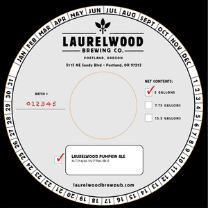 Laurelwood Brewing Co. Laurelwood Pumpkin Ale
