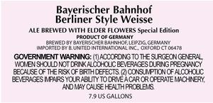Bayerischer Bahnhof Berliner Style Weisse