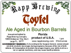 Rapp Brewing Company Toyfel