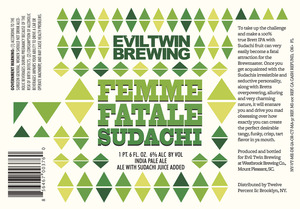 Evil Twin Brewing Femme Fatale Sudachi