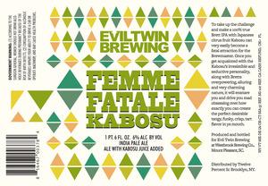 Evil Twin Brewing Femme Fatale Kobosu
