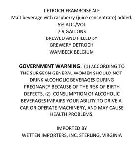 Brewery De Troch De Troch Framboise