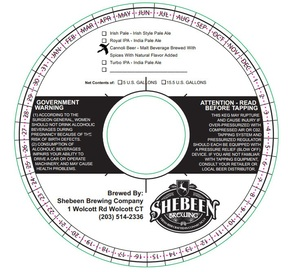 Shebeen Brewing Company Cannoli Beer
