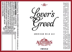 Williamsburg Alewerks Lovers Greed