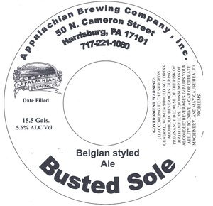 Appalachian Brewing Co Busted Sole
