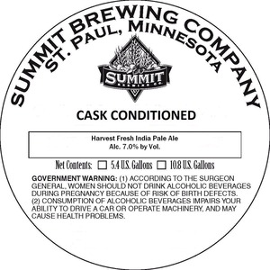 Summit Brewing Company Harvest Fresh