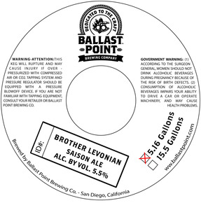 Ballast Point Brother Levonian