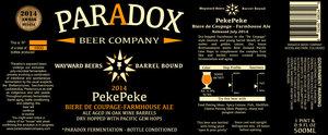 Paradox Beer Company Pekepeke
