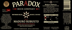 Paradox Beer Company Maduro Robusto