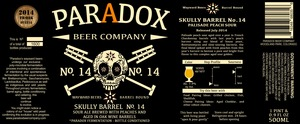 Paradox Beer Company Skully Barrel No. 14