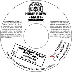 Ballast Point Brewing Company Homework Series No. 4
