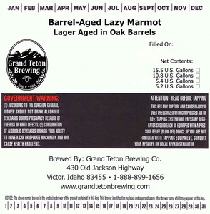 Grand Teton Brewing Company Barrel-aged Lazy Marmot