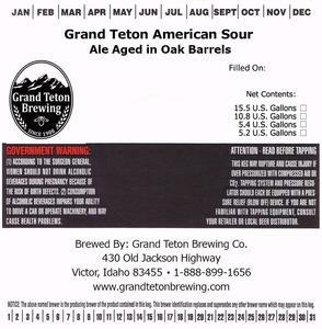 Grand Teton Brewing Company Grand Teton American Sour
