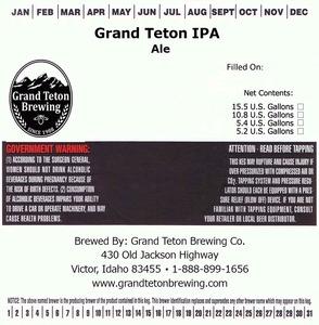 Grand Teton Brewing Company Grand Teton IPA