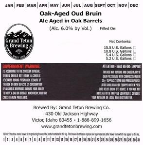Grand Teton Brewing Company Oak-aged Oud Bruin