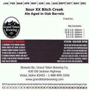 Grand Teton Brewing Company Sour Xx Bitch Creek