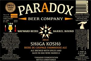 Paradox Beer Company Inc Shoga Kosho