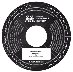 Widmer Brothers Brewing Company The Mandarina Project August 2014