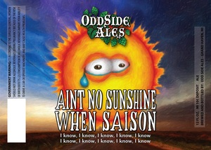 Odd Side Ales Aint No Sunshine When Saison