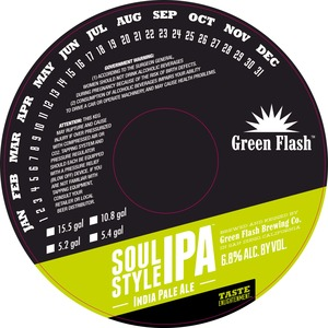 Green Flash Brewing Company Soul Style IPA