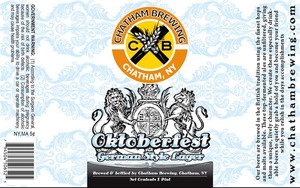 Chatham Brewing, LLC. Oktoberfest August 2014