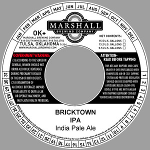 Marshall Brewing Company Bricktown IPA