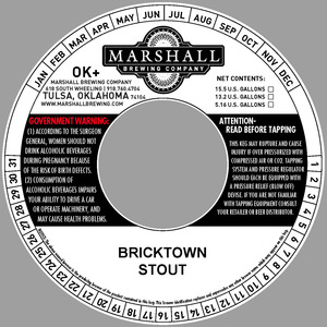 Marshall Brewing Company Bricktown Stout