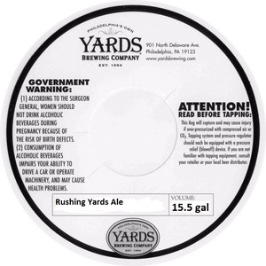 Yards Brewing Company Rushing Yards Ale