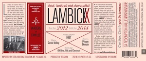 Lambickx Kriek-lambic 2012-2014