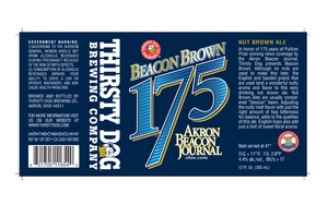 Thirsty Dog Brewing Co Beacon Brown 175