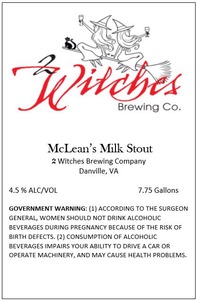 2 Witches Brewing Company Mclean's Milk Stout