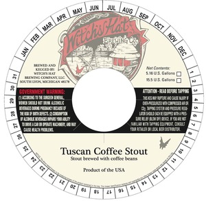 Witch's Hat Brewing Company Tuscan Coffee Stout