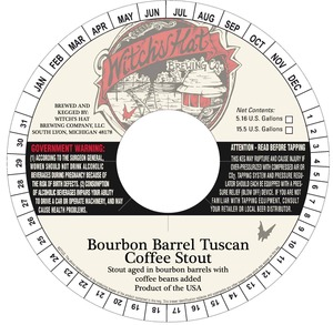 Witch's Hat Brewing Company Bourbon Barrel Tuscan Coffee Stout