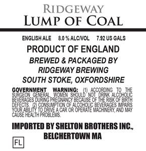 Ridgeway Brewing Lump Of Coal August 2014