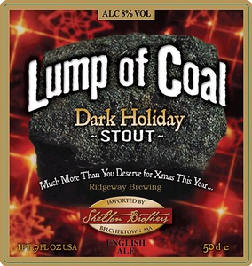 Ridgeway Brewing Lump Of Coal