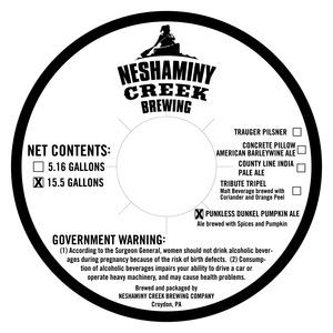 Neshaminy Creek Brewing Punkless Dunkel Pumpkin Ale