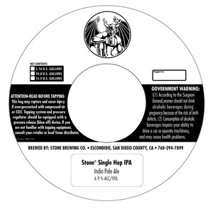 Stone Brewing Co Stone Single Hop IPA