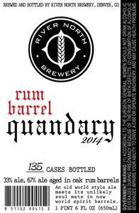 River North Brewery Rum Barrel Quandary