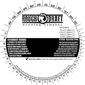 Rough Draft Brewing Company Stout Stout Baby