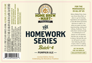 Ballast Point Brewing Company Homework Series #4