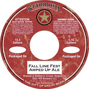 Starr Hill Fall Line Fest Amped Up Ale