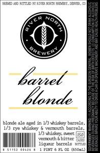 River North Brewery Barrel Blonde