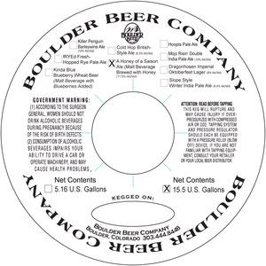 Boulder Beer Company A Honey Of A Saison Ale