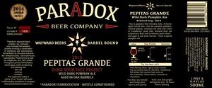 Paradox Beer Company Pepitas Grande