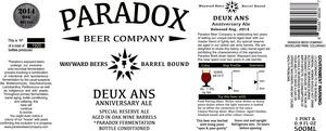 Paradox Beer Company Deux Ans