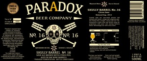 Paradox Beer Company Skully Barrel No. 16