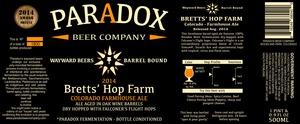 Paradox Beer Company Bretts' Hop Farm