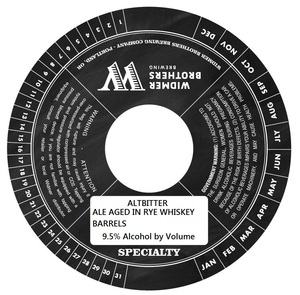 Widmer Brothers Brewing Company Altbitter August 2014