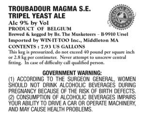 Troubadour Magma S.e. Tripel Yeast