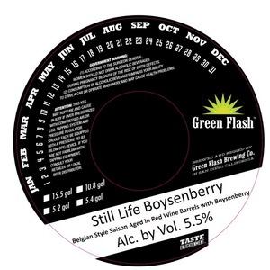 Green Flash Brewing Company Still Life Boysenberry